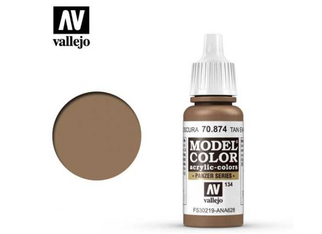 Vallejo 17ml 874 134 Model Color - USA Tan Earth 874