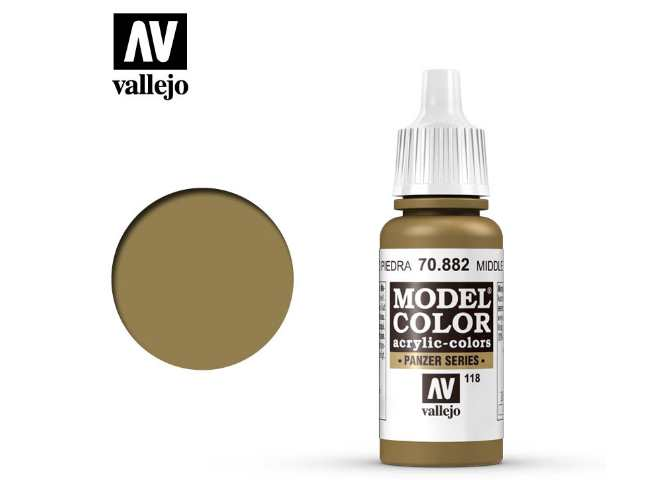 Vallejo 17ml 882 118 Model Color - Middlestone 882