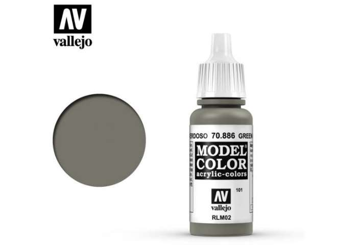 Vallejo 17ml 886 101 Model Color - Green Grey 886