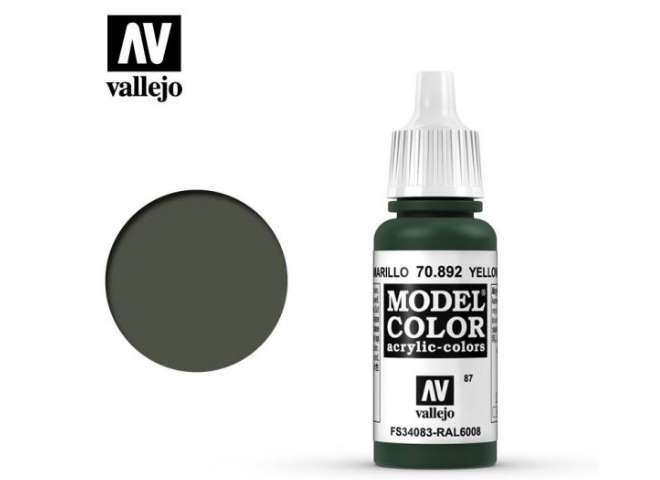 Vallejo 17ml 892 087 Model Color - Yellow Olive 892