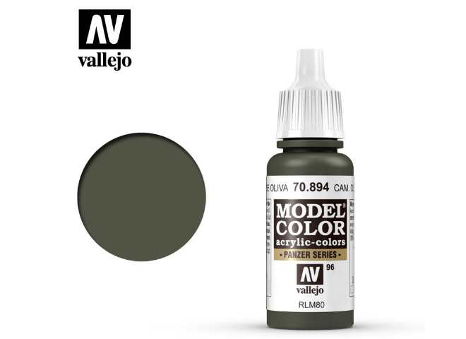 Vallejo 17ml 894 096 Model Color - Cam Olive Green 894