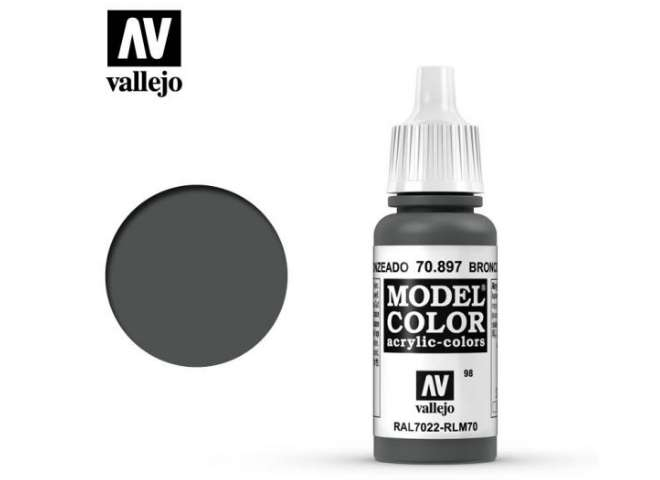Vallejo 17ml 897 098 Model Color - Bronze Green 897