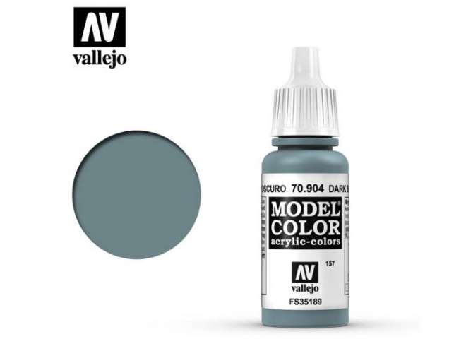 Vallejo 17ml 904 157 Model Color - Dark Blue Grey 904