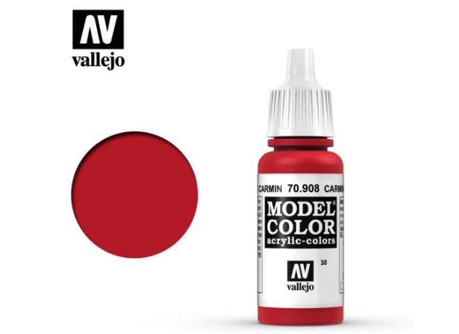 Vallejo 17ml 908 030 Model Color - Carmine Red 908