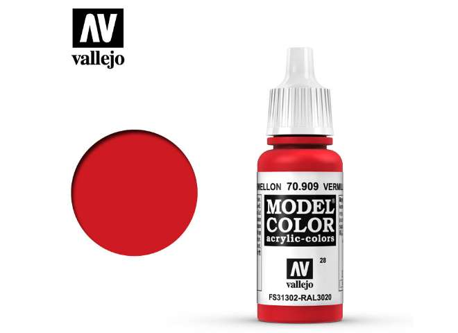 Vallejo 17ml 909 028 Model Color - Vermillion 909