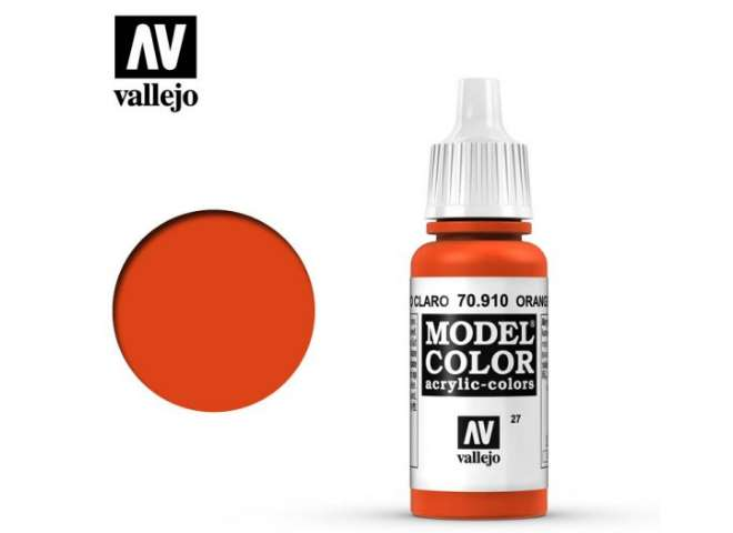 Vallejo 17ml 910 027 Model Color - Orange Red 910