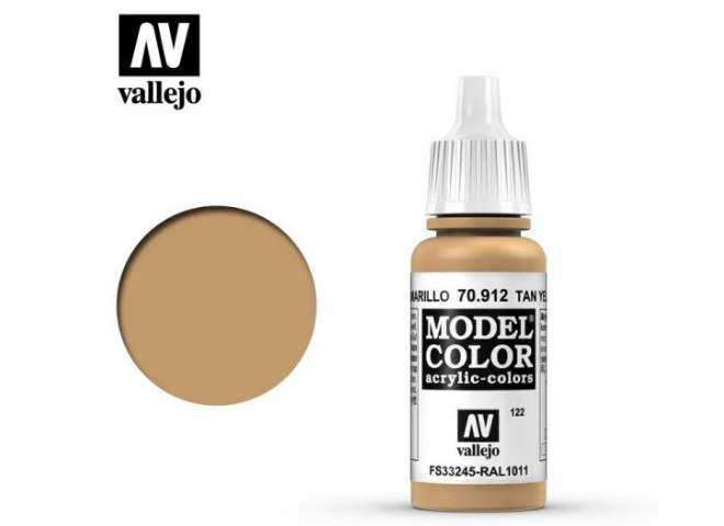 Vallejo 17ml 912 122 Model Color - Tan Yellow 912