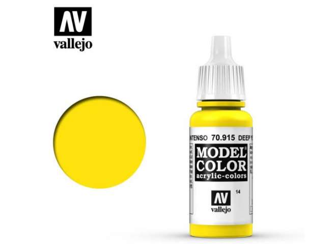 Vallejo 17ml 915 014 Model Color - Deep Yellow 915