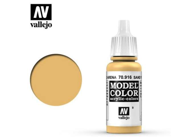 Vallejo 17ml 916 009 Model Color - Sand yellow 916