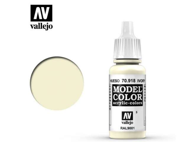Vallejo 17ml 918 005 Model Color - Ivory 918