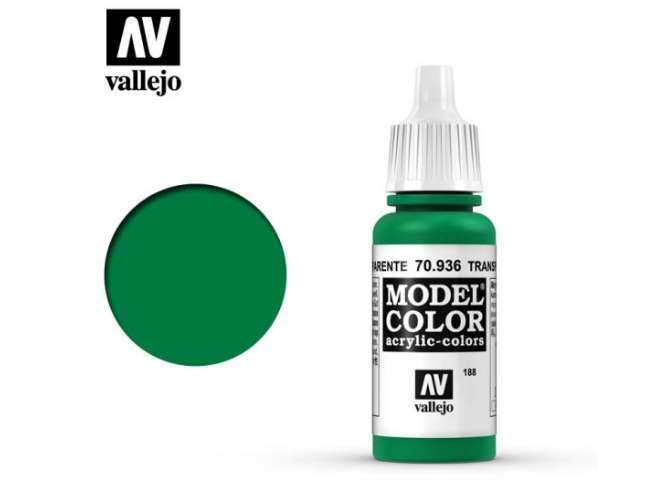 Vallejo 17ml 936 188 Model Color - Transparent Green 936
