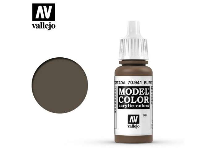 Vallejo 17ml 941 148 Model Color - Burnt Umber 941