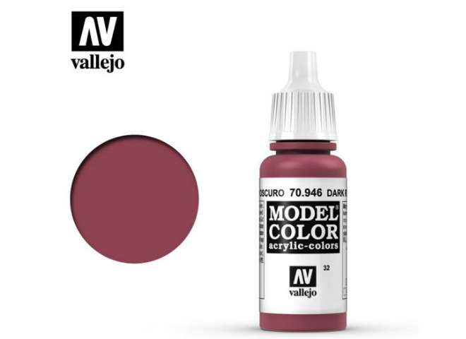 Vallejo 17ml 946 032 Model Color - Dark Red 946