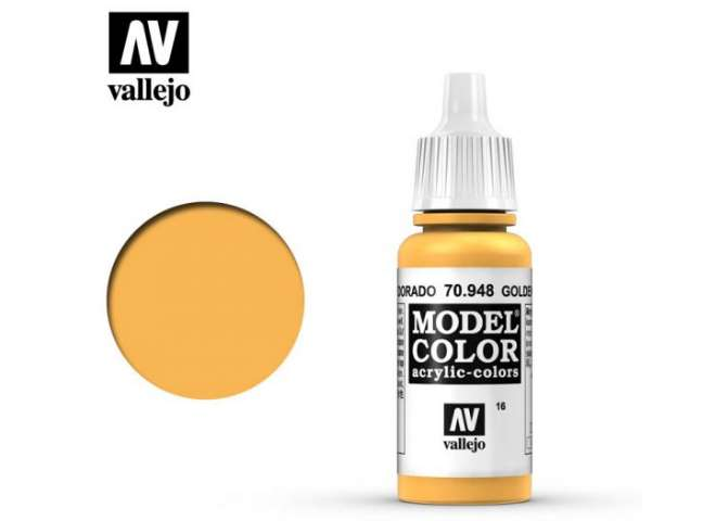 Vallejo 17ml 948 016 Model Color - Golden Yellow 948