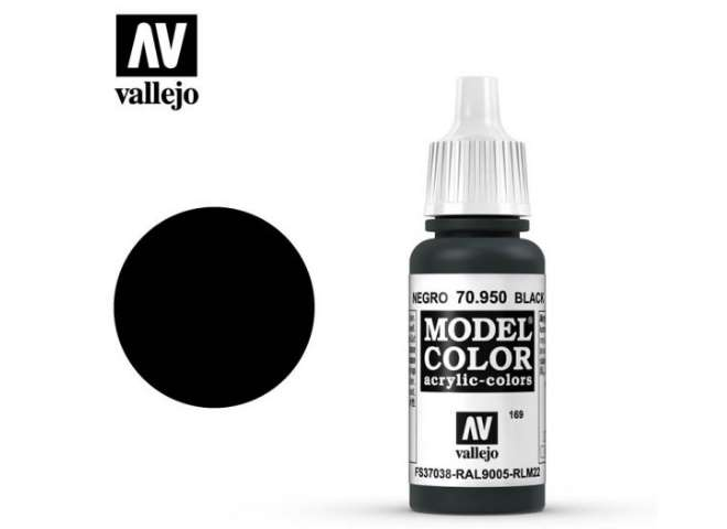 Vallejo 17ml 950 169 Model Color - Black 950
