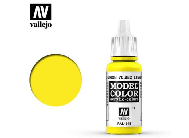 Vallejo 17ml 952 011 Model Color - Lemon yellow 952