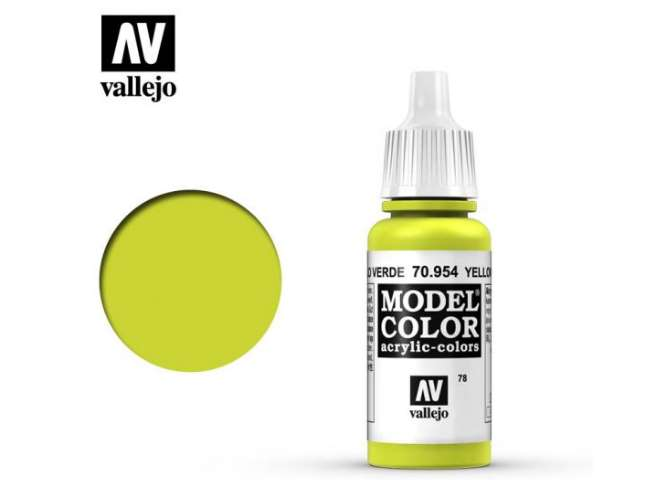 Vallejo 17ml 954 078 Model Color - Yellow Green 954