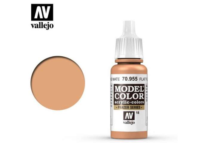 Vallejo 17ml 955 018 Model Color - Flat Flesh 955