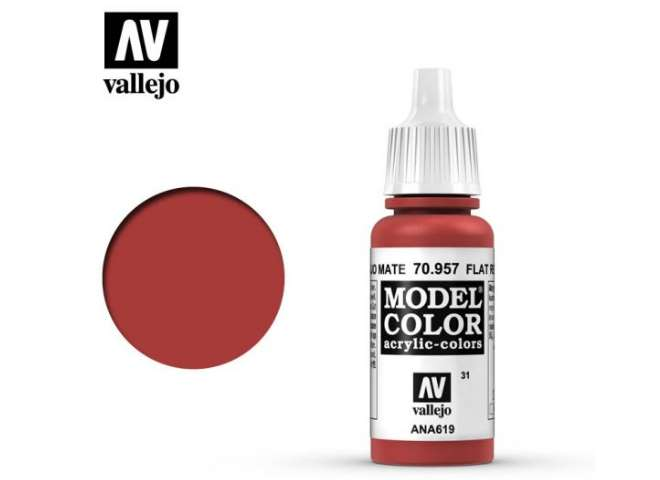 Vallejo 17ml 957 031 Model Color - Flat Red 957