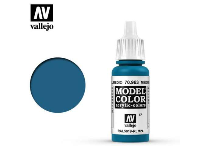 Vallejo 17ml 963 057 Model Color - Medium Blue 963