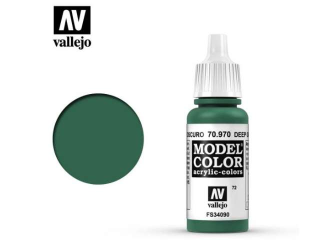 Vallejo 17ml 970 072 Model Color - Deep Green 970