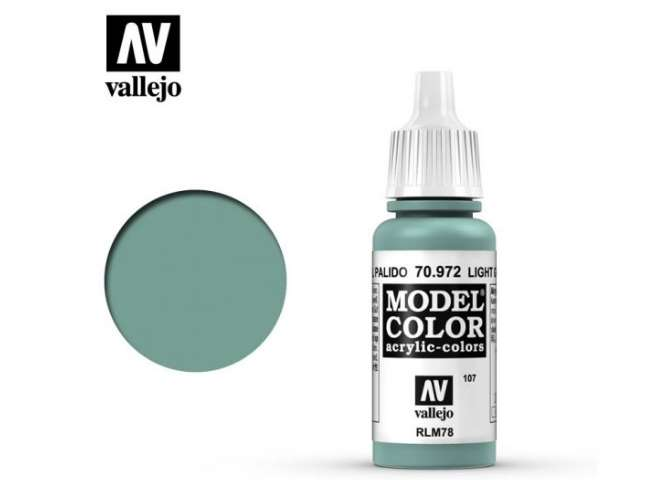 Vallejo 17ml 972 107 Model Color - Light Green Blue 972