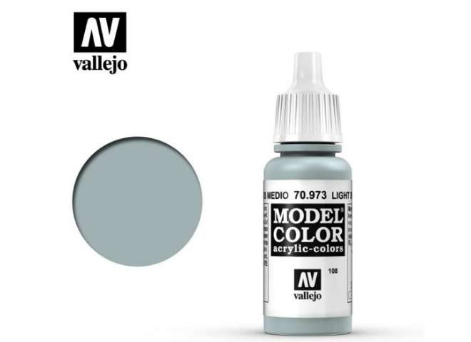 Vallejo 17ml 973 108 Model Color - Light Sea Grey 973