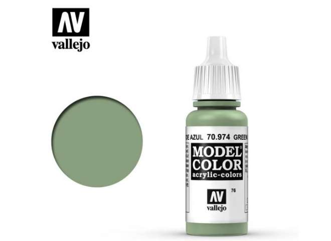 Vallejo 17ml 974 076 Model Color - Green Sky 974