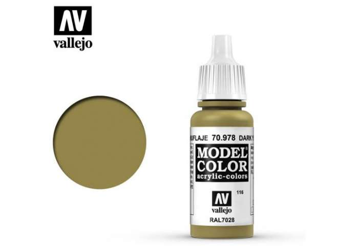 Vallejo 17ml 978 116 Model Color - Dark Yellow 978