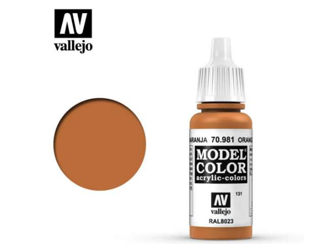 Vallejo 17ml 981 131 Model Color - Orange Brown 981