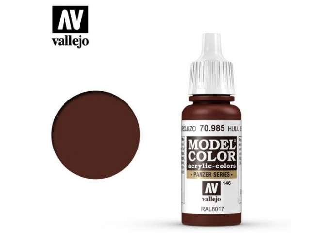 Vallejo 17ml 985 146 Model Color - Hull Red 985