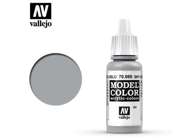 Vallejo 17ml 989 154 Model Color - Sky Grey 989