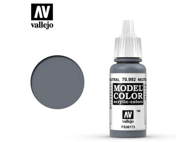 Vallejo 17ml 992 160 Model Color - Neutral Grey 992