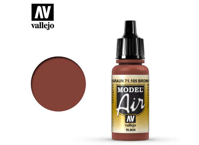 Vallejo 17ml MA105 Model Air - 105 Brown RLM 26