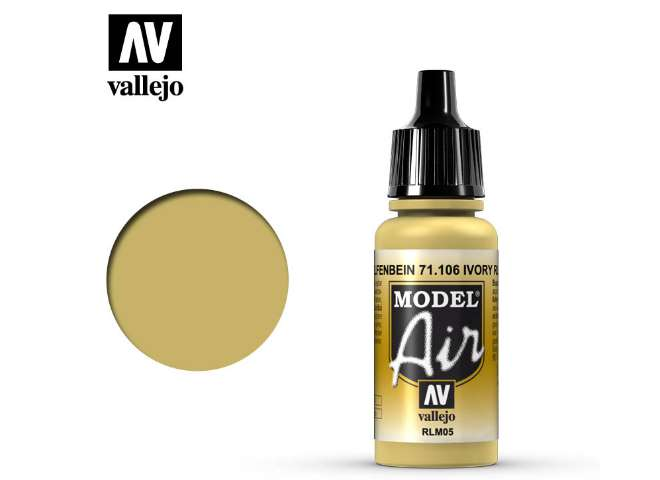 Vallejo 17ml MA106 Model Air - 106 Yellow Lazur RLM 05
