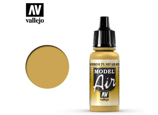 Vallejo 17ml MA107 Model Air - 107 US Interior Yellow