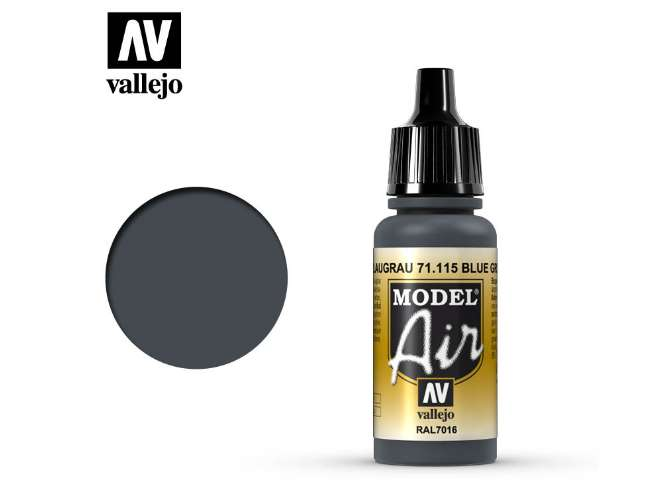 Vallejo 17ml MA115 Model Air - 115 Blue Grey RAL7016