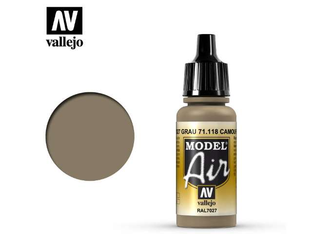 Vallejo 17ml MA118 Model Air - 118 Camouflage Grey RAL7027
