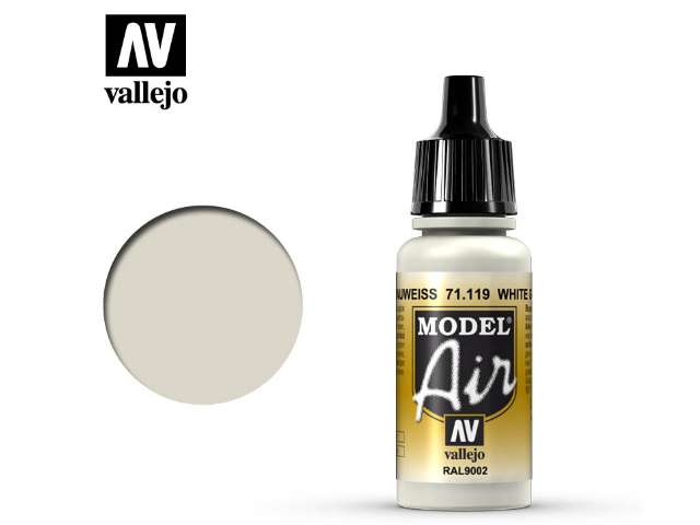 Vallejo 17ml MA119 Model Air - 119 White Grey RAL9002