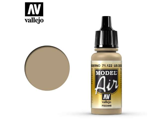 Vallejo 17ml MA122 Model Air - 122 US Desert Armour 686