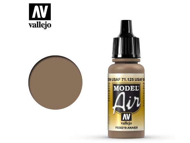 Vallejo 17ml MA125 Model Air - 125 USAF Brown