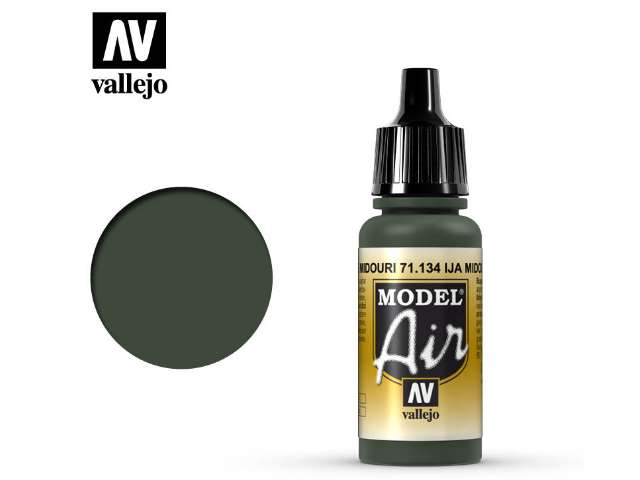 Vallejo 17ml MA134 Model Air - 134 IJA Midouri Green