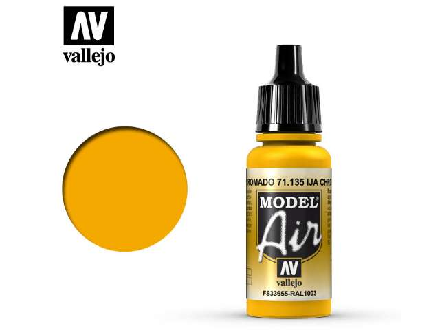 Vallejo 17ml MA135 Model Air - 135 IJA Chrome Yellow