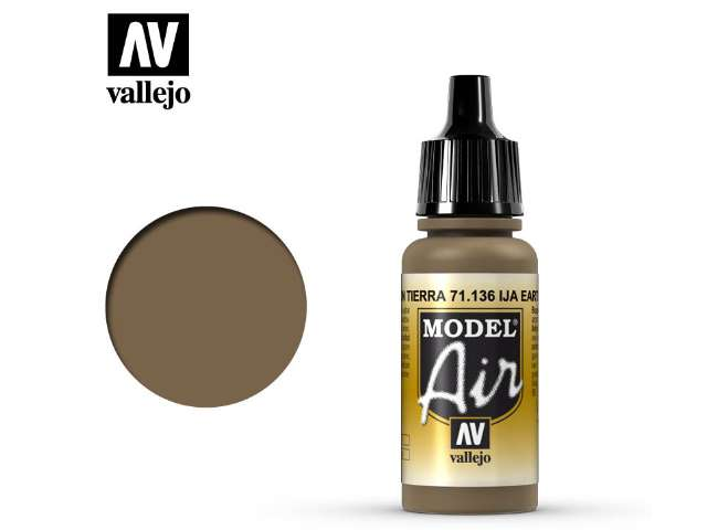 Vallejo 17ml MA136 Model Air - 136 IJA Earth Brown