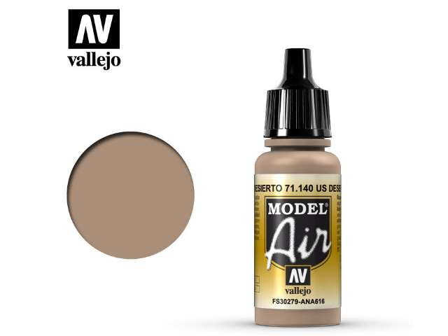 Vallejo 17ml MA140 Model Air - 140 US Desert Sand (FS30279)