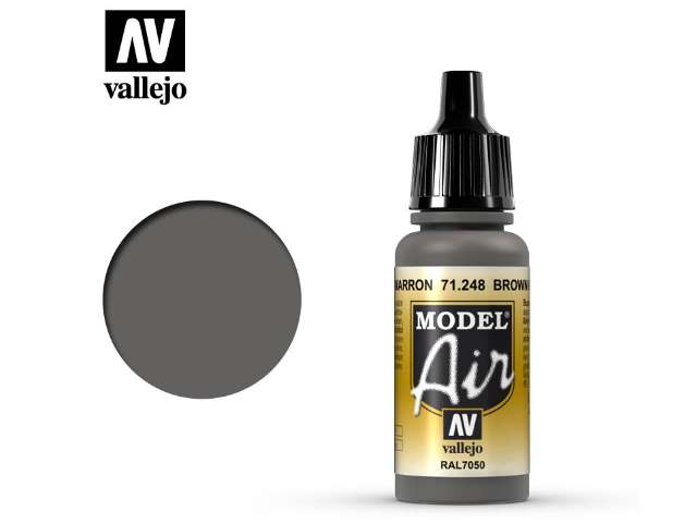 Vallejo 17ml MA248 Model Air - 248 Brown Grey