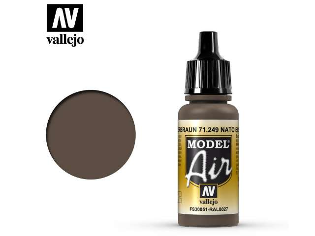 Vallejo 17ml MA249 Model Air - 249 NATO Brown