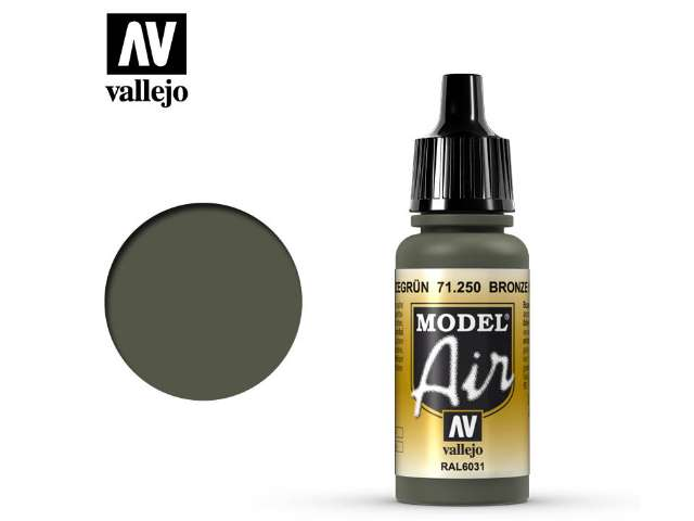 Vallejo 17ml MA250 Model Air - 250 Bronze Green