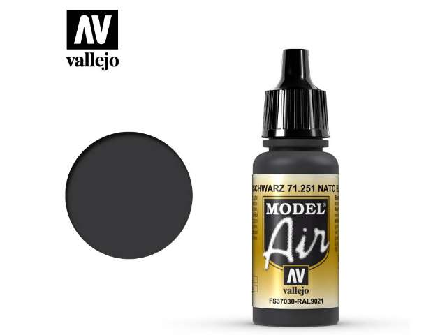 Vallejo 17ml MA251 Model Air - 251 NATO Black