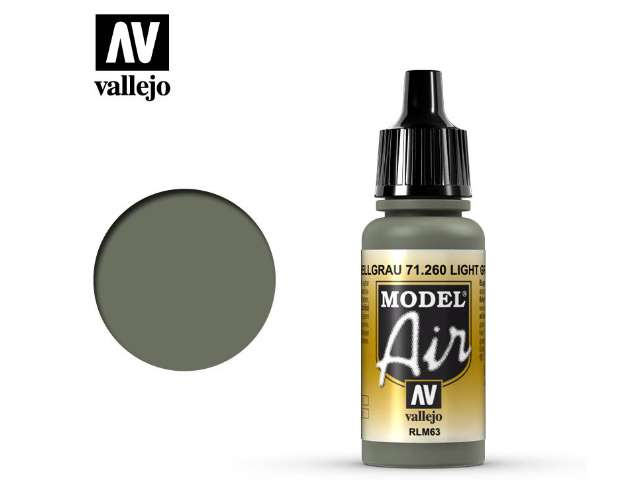 Vallejo 17ml MA260 Model Air - 260 Light Grey RLM63